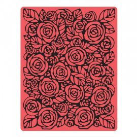 Sizzix Texture Fades A2 Embossing Folder - Roses - 661829